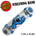 SANTA CRUZ ���󥿥��롼�� �������� ����ץ꡼�� SCREAMING HAND WHT [7.7x31.2] �����꡼�ߥ󥰥ϥ�� �ۥ磻�� �����ʥ����ܡ� SKATE