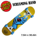 SANTA CRUZ ���󥿥��롼�� �������� ����ץ꡼�� SCREAMING HAND YEL [7.5x30.6] �����꡼�ߥ󥰥ϥ�� �ۥ磻�� �����ʥ����ܡ� SKATE
