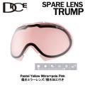 [旧モデルセール] DICE ダイス スノーボードゴーグル スペアレンズ TRUMP [565]Pastel Yellow Mirror×pola Pink トランプ 偏光