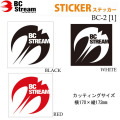 スノーボード ステッカー BC-Stream [BC-2]【1】 ビーシーストリーム カッティングステッカー