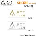 スノーボード ステッカー ACT GEAR [ACT-1] 【2】アクトギア カッティングステッカー