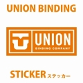 UNION【ユニオン】ビンディング ステッカー LOGO ロゴ[Mサイズ] スノーボードステッカー