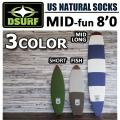 �����եܡ��ɥ����� �˥åȥ����� �ե���ܡ��� 8'0 DESTINATION US Natural Socks MID FUN �ǥ����ƥ��͡������