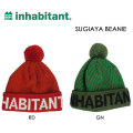 16-17 inhabitant インハビタント ビーニー SUGIAYA BEANIE ニットキャップ ニット帽 ボンボン付き インハビタント ウエア