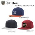 ブリクストン WHEELER SNAP BACK 帽子 メンズ キャップ BRIXTON