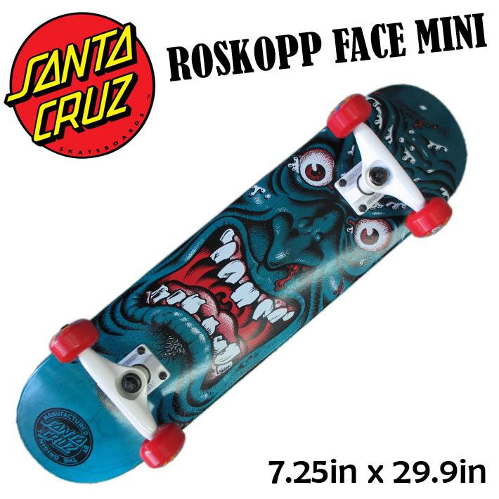 SANTA CRUZ サンタクルーズ スケート コンプリート ROSKOPP FACE MINI [7.25x29.9] キッズ用 完成品スケボー SKATE