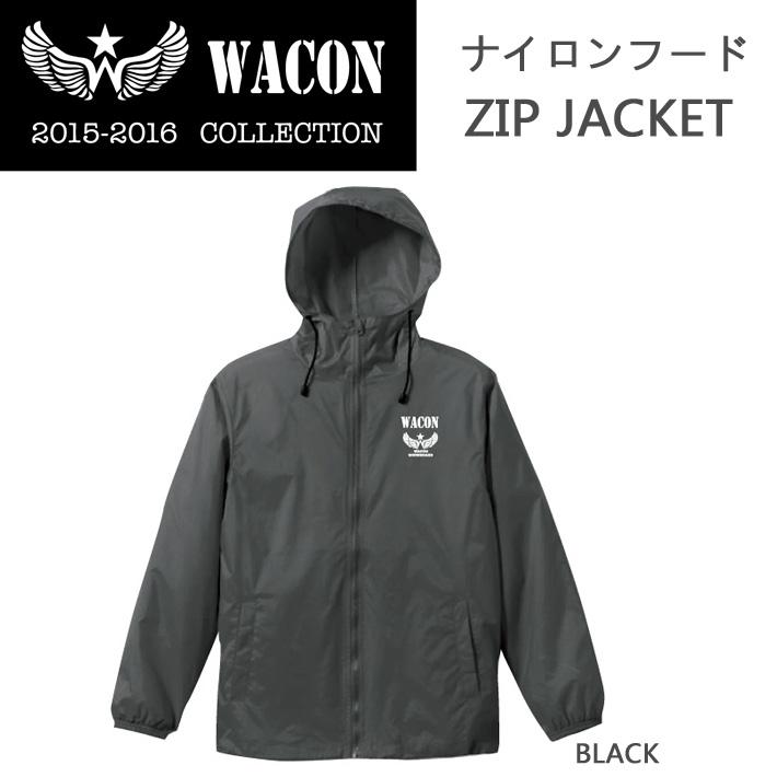 15-16 WACON スノーボードウェア  ナイロンフードZIP JACKET ワコン ウエア フードジャケット