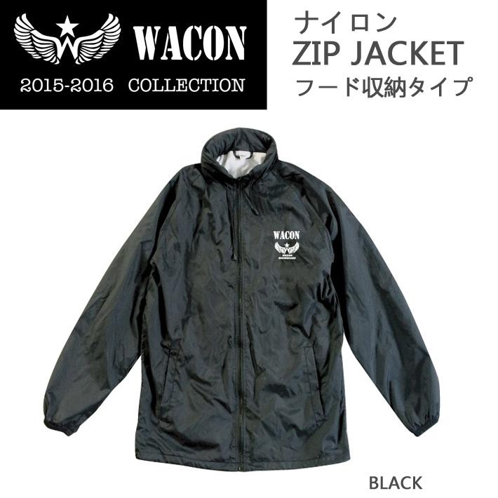 15-16 WACON スノーボードウェア  ナイロンZIP JACKET フード収納タイプ ワコン ウエア フードジャケット
