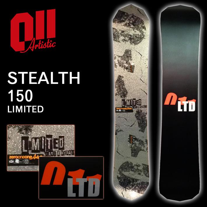 16-17 011 artistic 011アーティスティック スノーボード STEALTH 150 LIMITED ステルス リミテッド キャンバー グラトリ 板