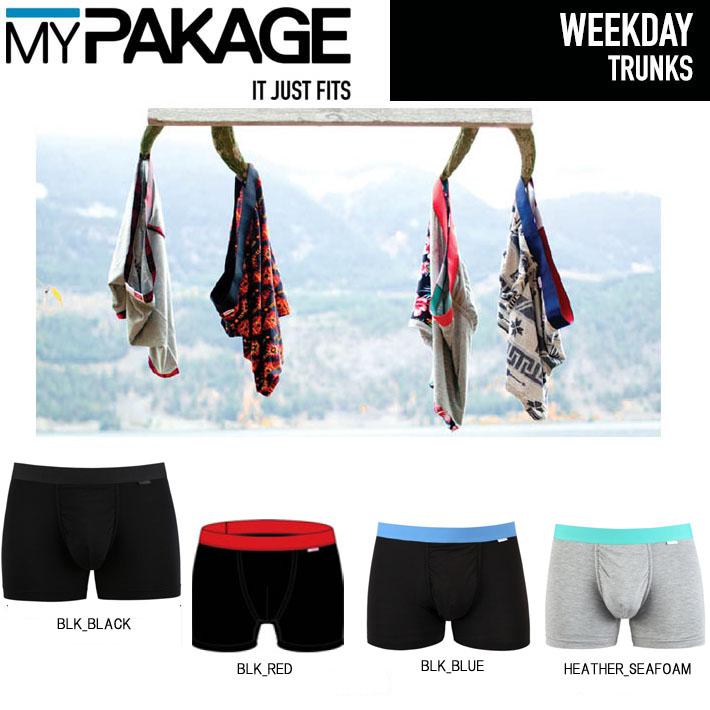 MY PAKAGE  マイパッケージ ボクサーパンツ WEEKDAY  TRUNKS メンズ 下着 パンツ トランクス インナーウェア