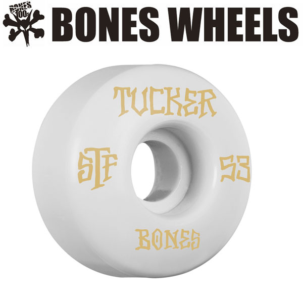 BONES WEELS ボーンズ ウィール TUCKER TITLE 53mm [STF] スケートボードウィール 正規品
