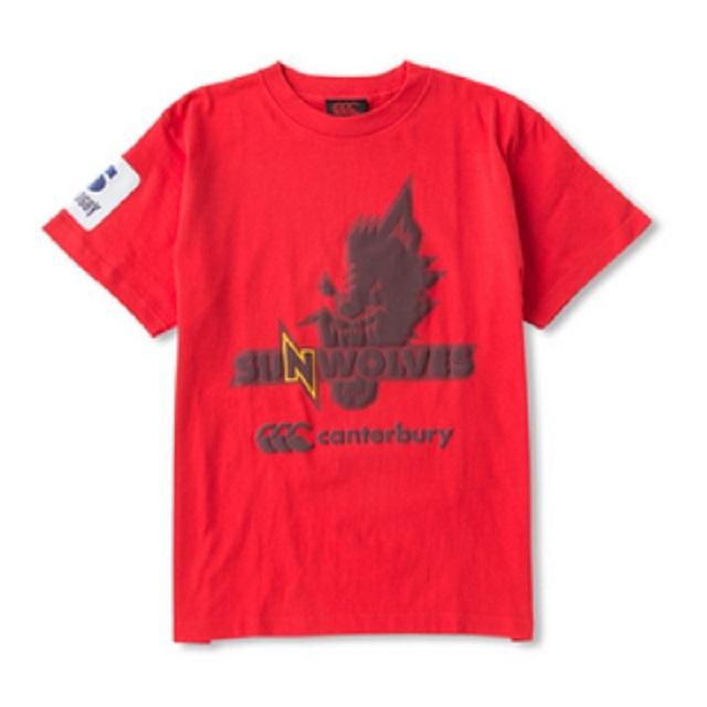サンウルブズ Tシャツ [R37161SR](S~3L、ミディアムグレー/ブラック/レッド)