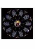 S-12【世界のステンドグラスシール】 サンテチェンヌ教会  タイプC W500mm×H500mm