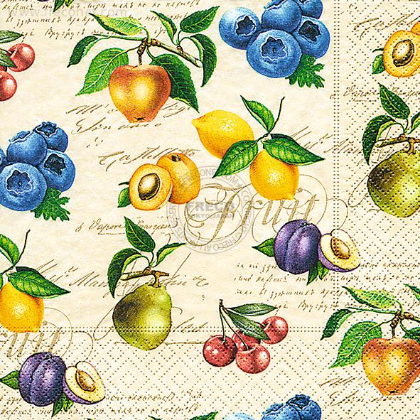 Paper+Design ペーパーナプキン <ランチ> Vintage fruits(200042)【クロネコDM便OK】