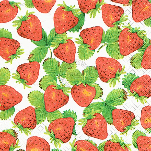 Paper+Design ペーパーナプキン <ランチ> Strawberry picking(200048)【クロネコDM便OK】