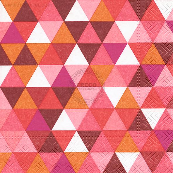 Paper+Design ペーパーナプキン <ランチ> Triangles red(200125)【クロネコDM便OK】
