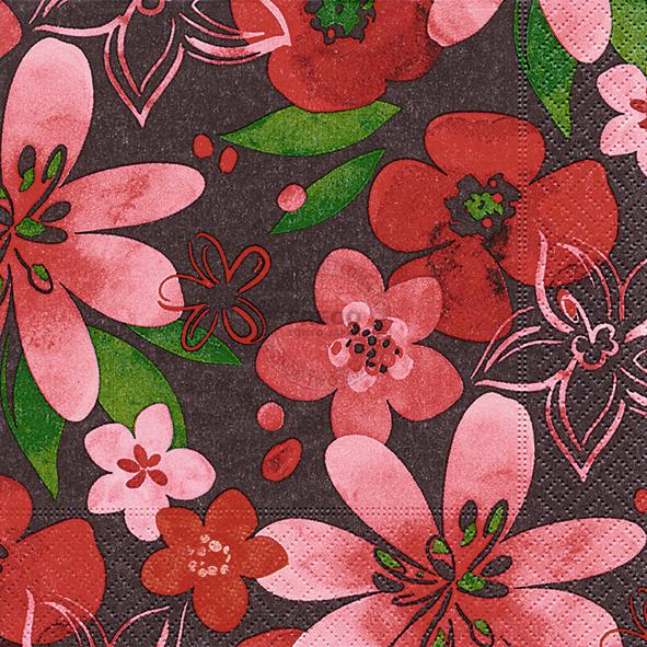 Paper+Design ペーパーナプキン <ランチ> Marsala flowers(200137)【クロネコDM便OK】