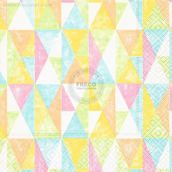Paper+Design ペーパーナプキン <ランチ> Colourful geometry(200150)【クロネコDM便OK】