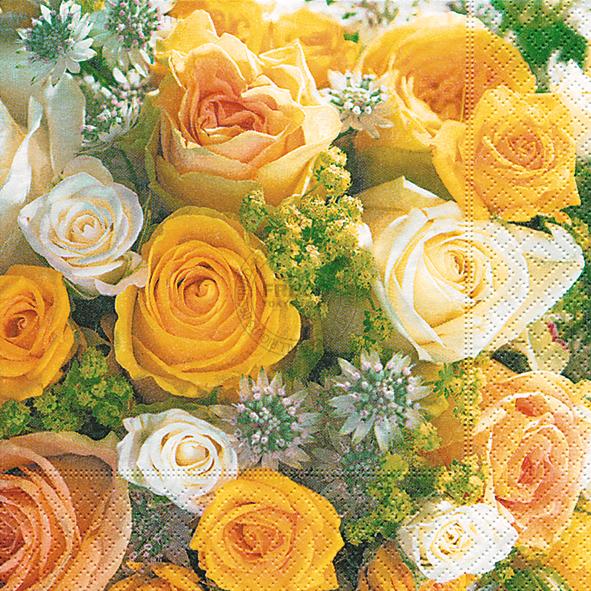 Paper+Design ペーパーナプキン <ランチ> Bouquet of roses(200152)【クロネコDM便OK】