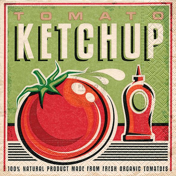 Paper+Design ペーパーナプキン <ランチ> Tomato ketchup(21817)【クロネコDM便OK】