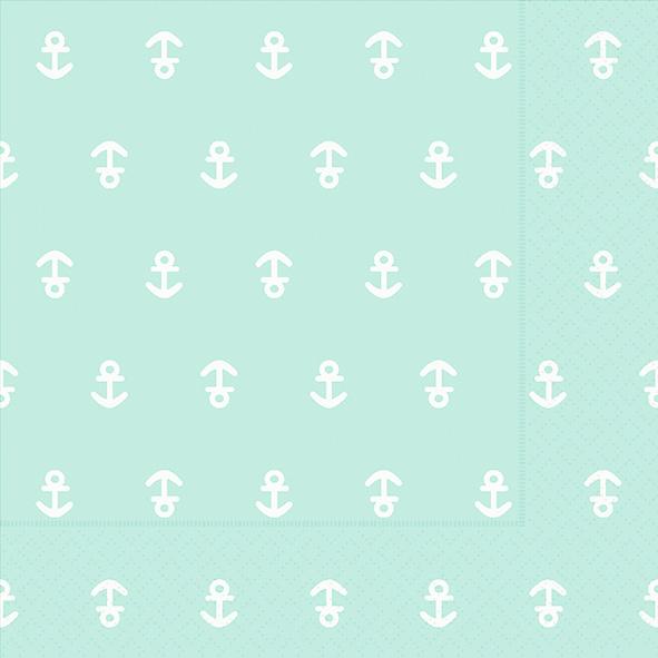 Paper+Design ペーパーナプキン <ランチ> Anchor mint(21979)【クロネコDM便OK】