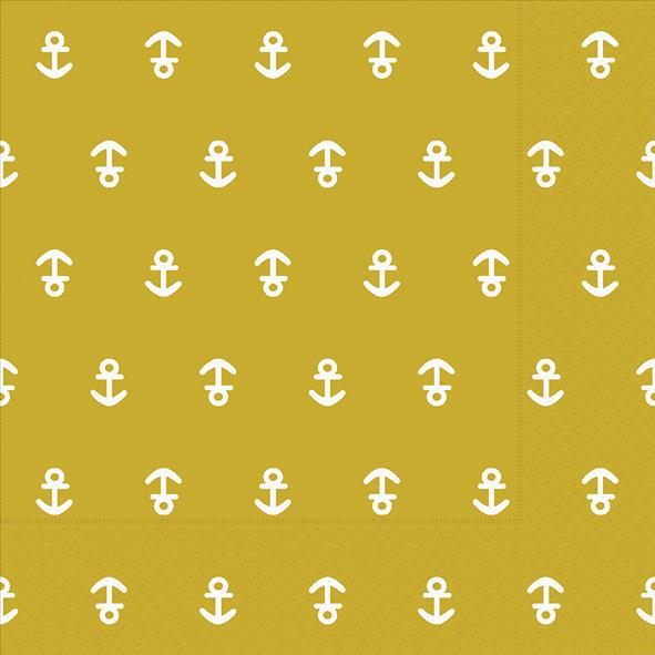 Paper+Design ペーパーナプキン <ランチ> Anchor mustard(21980)【クロネコDM便OK】