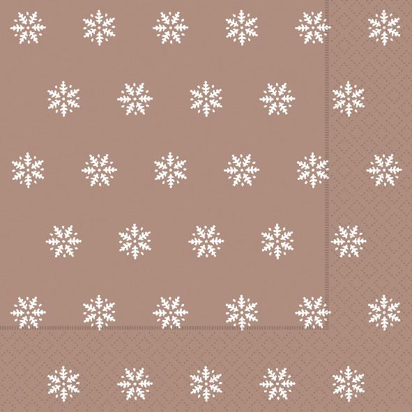 Paper+Design ペーパーナプキン <ランチ> Snowflakes copper(60928)【クロネコDM便OK】