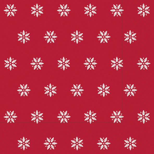 Paper+Design ペーパーナプキン <ランチ> Snowflakes red(60933)【クロネコDM便OK】