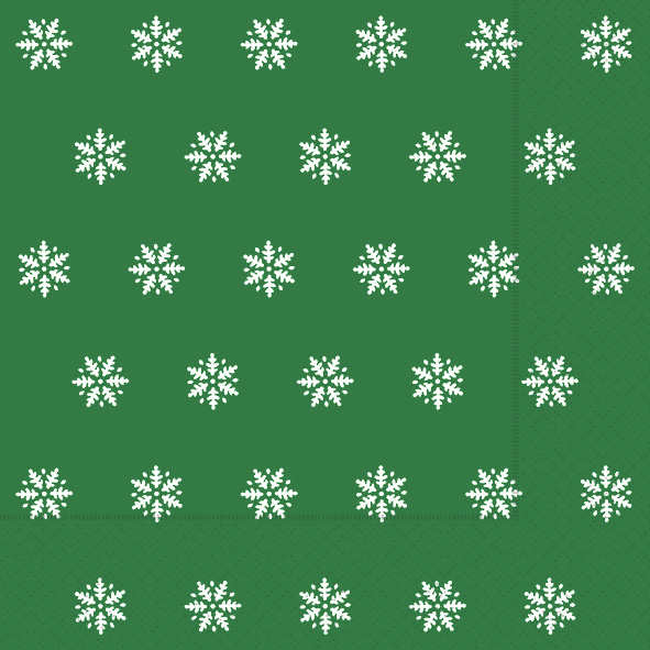 Paper+Design ペーパーナプキン <ランチ> Snowflakes green(60934)【クロネコDM便OK】