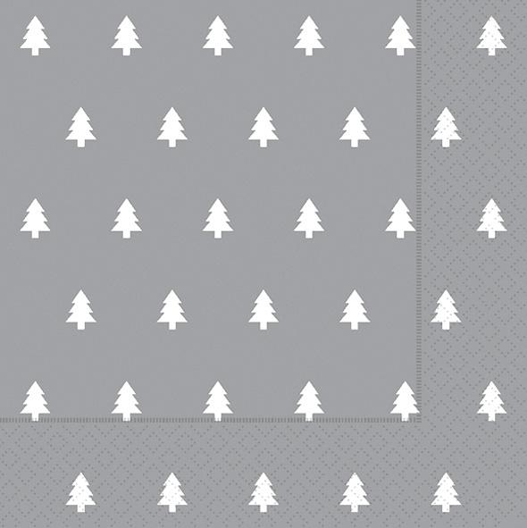 Paper+Design ペーパーナプキン <ランチ> Trees silver(60938)【クロネコDM便OK】