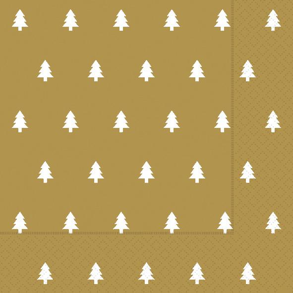 Paper+Design ペーパーナプキン <ランチ> Trees gold(60939)【クロネコDM便OK】