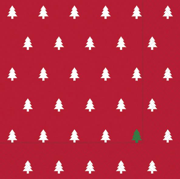 Paper+Design ペーパーナプキン <ランチ> Trees red(60945)【クロネコDM便OK】