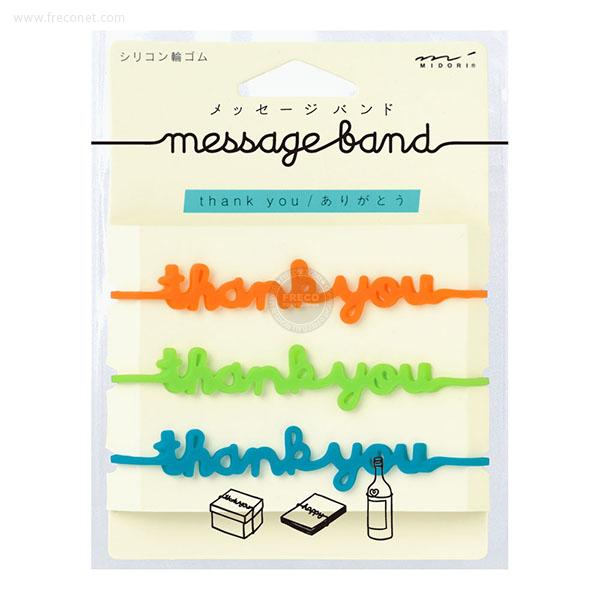 メッセージバンド サンキュー柄(62301)【メール便OK】