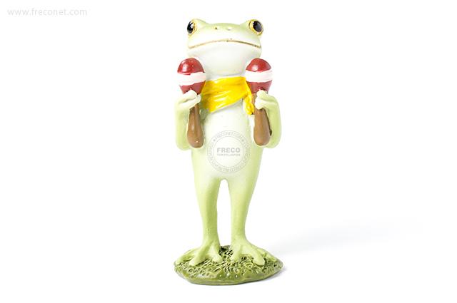 Copeau マラカスを持つカエル(70065)【宅急便配送】