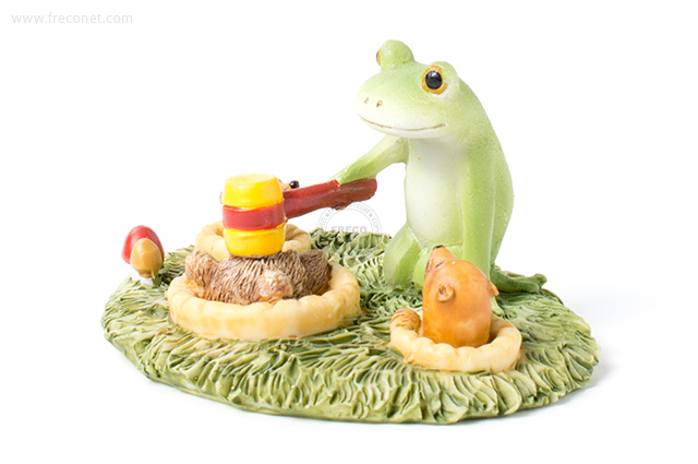 Copeau もぐらたたきをするカエル(70569)【宅急便配送】