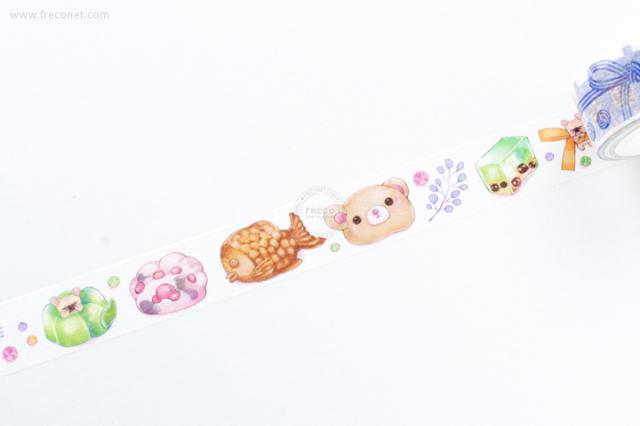 自己印マスキングテープ 豆菓子【クロネコDM便OK】