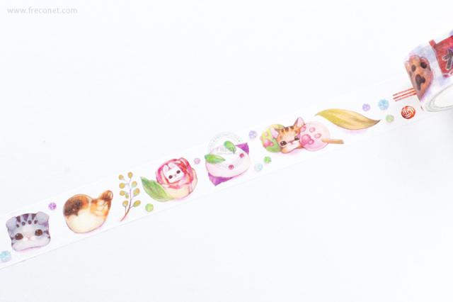 自己印マスキングテープ 福菓子【クロネコDM便OK】