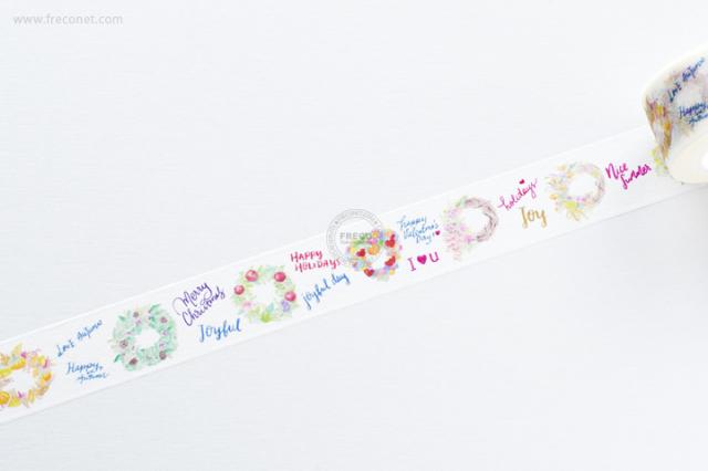 自己印マスキングテープ season wreath【クロネコDM便OK】