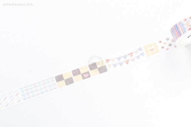 自己印マスキングテープ 糖果拼貼【クロネコDM便OK】