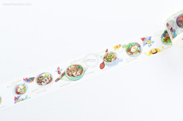 自己印マスキングテープ 精霊麺食記【宅急便配送】