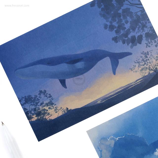 BGMポストカード クジラA(BC-JY01)【クロネコDM便OK】
