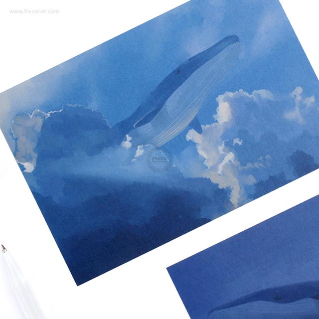 BGMポストカード クジラB(BC-JY02)【クロネコDM便OK】