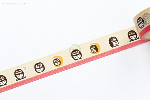 ふわりマスキングテープ ふくろう(FW47001)【クロネコDM便OK】