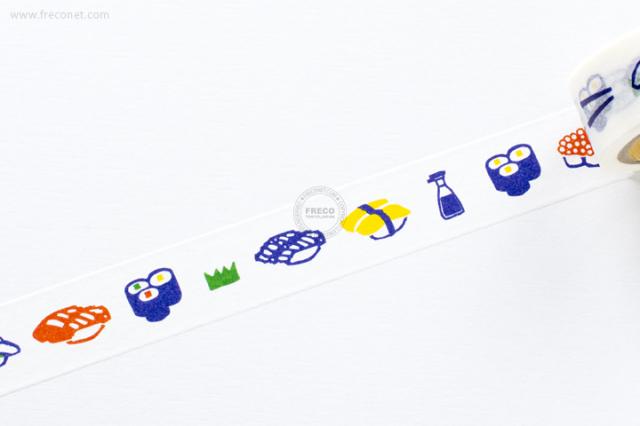 ふわりマスキングテープ 寿司(FW47008)【クロネコDM便OK】