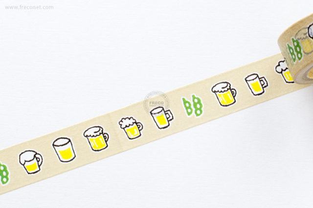 ふわりマスキングテープ ビール(FW47009)【クロネコDM便OK】
