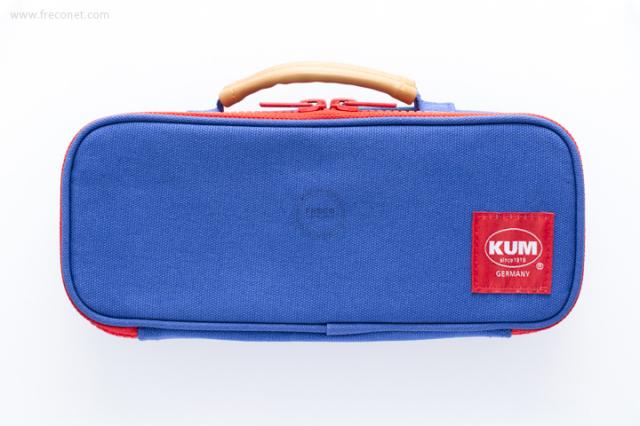 KUM ハンドル付きペンケース ブルー(KM169A)【宅急便配送】