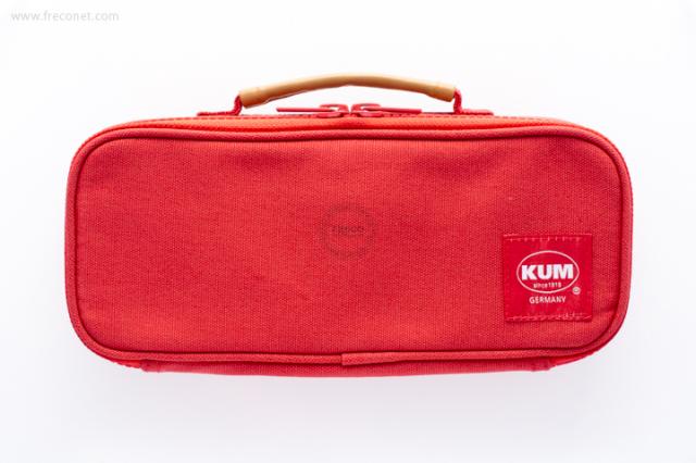 KUM ハンドル付きペンケース レッド(KM169R)【宅急便配送】