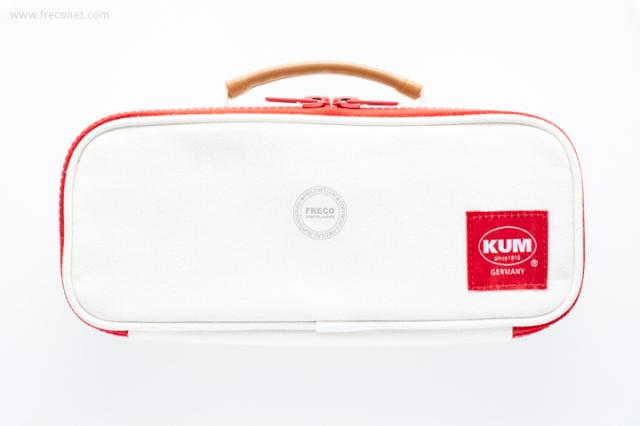 KUM ハンドル付きペンケース ホワイト(KM169W)【宅急便配送】