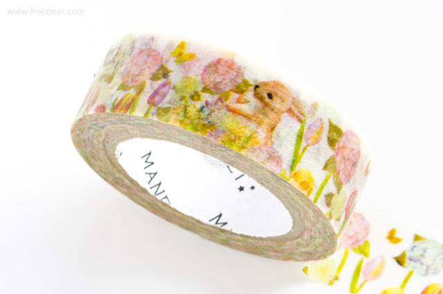 MANETマスキングテープ Tulip Rabbit(MN-MT-039)【クロネコDM便OK】