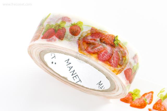 MANETマスキングテープ Strawberry Cake(MN-MT-040)【クロネコDM便OK】